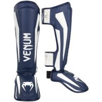 Щитки Venum Elite Navy Blue/White