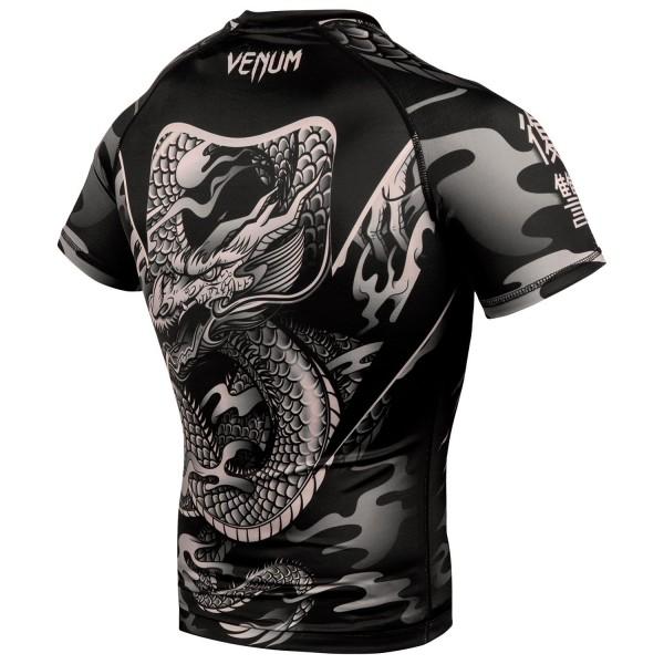 Рашгард Venum Dragon's Flight Black/Sand S/S