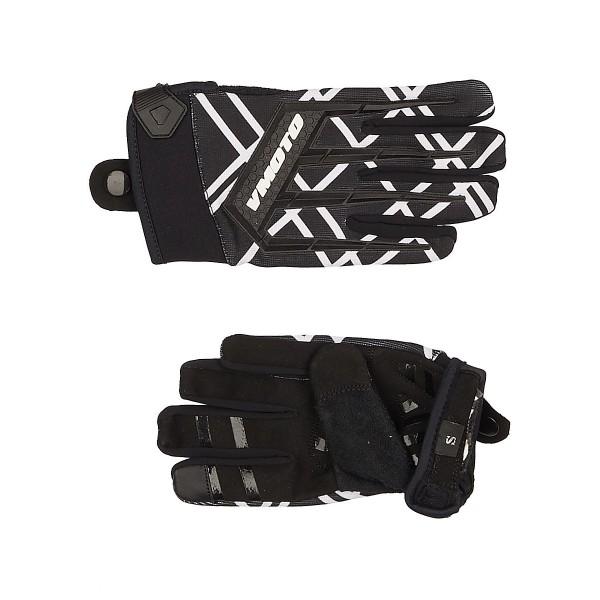 Мотоперчатки Vmoto 1261 Black/White