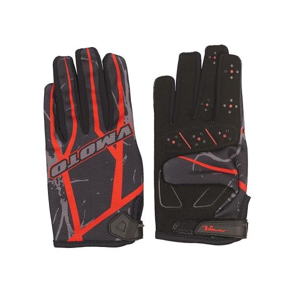Мотоперчатки Vmoto 1265 Black/Red