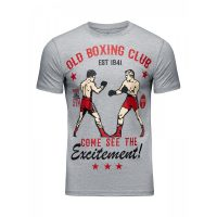 Футболка Athletic pro. Old Boxing Club Gray