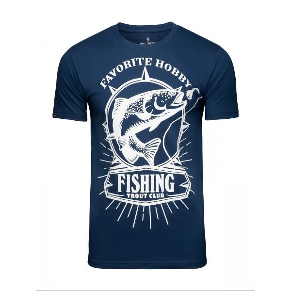 Футболка Athletic pro. Fishing Blue