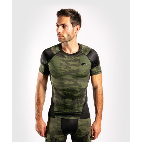 Рашгард Venum Trooper S/S Forest Camo/Black