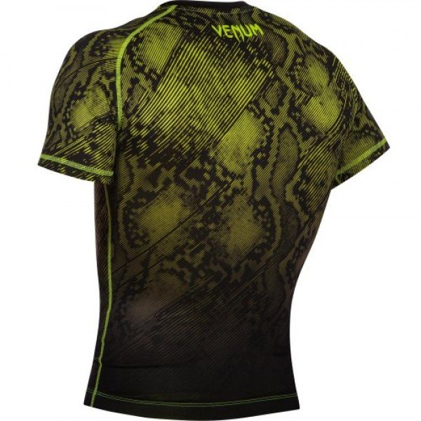 Рашгард Venum Fusion Black/Yellow S/S