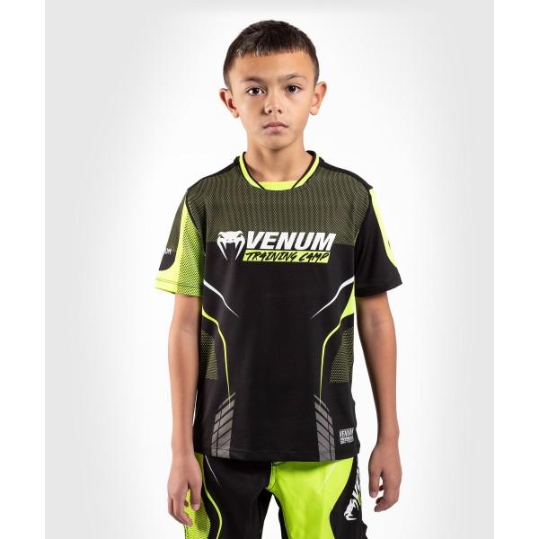 Футболка детская Venum Training camp 3.0 Dry Tech Black/Neo Yellow