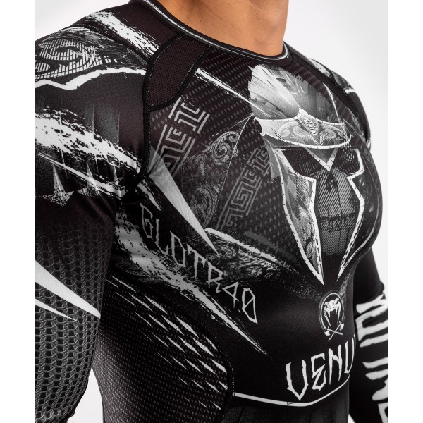 Рашгард Venum Gladiator 4.0 Black/White L/S