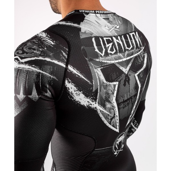 Рашгард Venum Gladiator 4.0 Black/White L/S