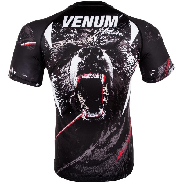 Рашгард Venum Grizzli Black/White S/S