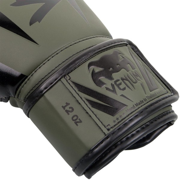 Перчатки боксерские Venum Elite Khaki/Black