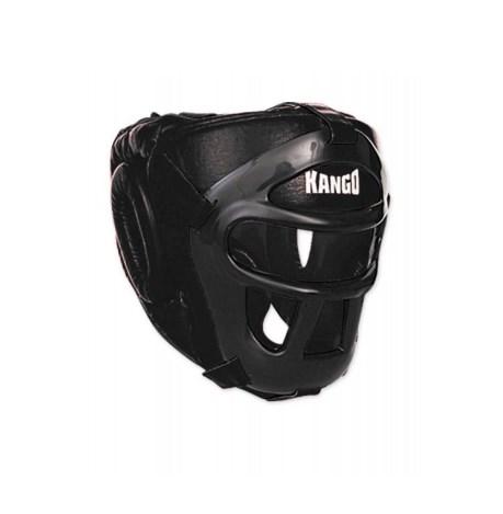 Шлем боксерский Kango KHG-002 Black/Black PU