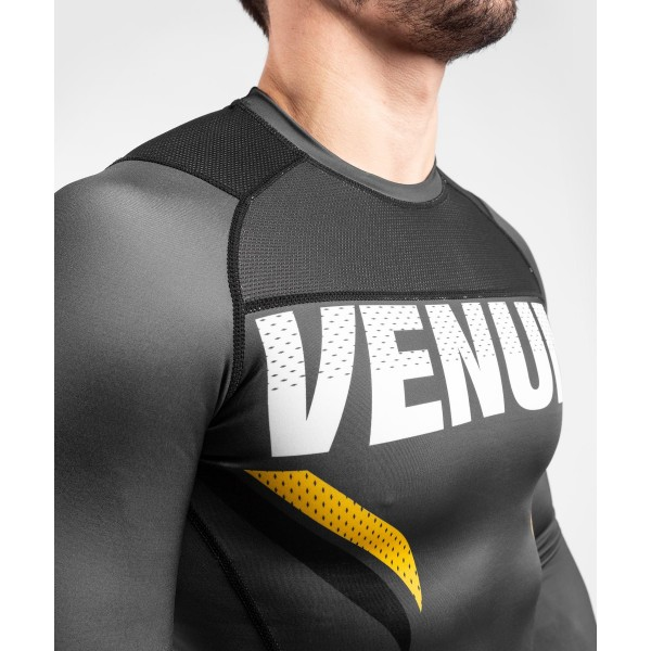 Рашгард Venum ONE FC Impact Grey/Yellow L/S