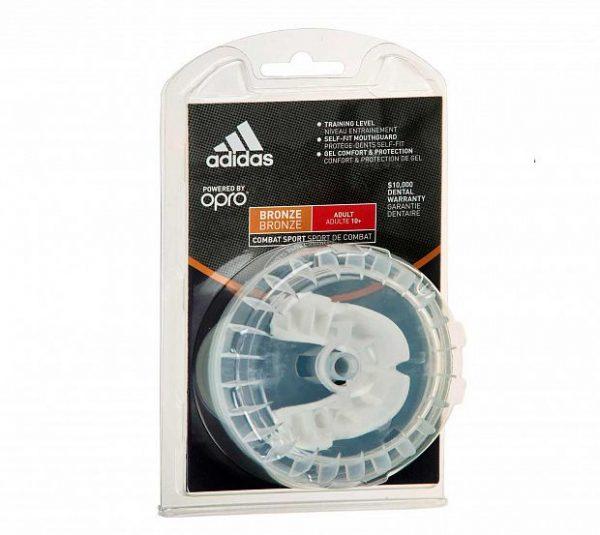 adiBP31 Капа одночелюстная Opro Bronze Gen4 Self-Fit Mouthguard Adidas белая