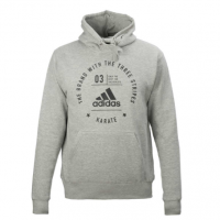 adiCL02K Толстовка с капюшоном The Brand With The Three Stripes Karate Adidas серо-черная