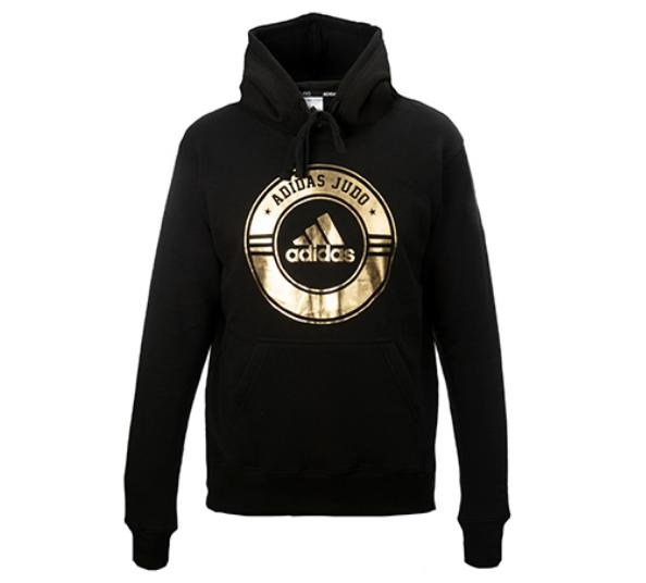 adiCSH05J Толстовка с капюшоном Combat Sport Hoody Judo Adidas черно-золотая