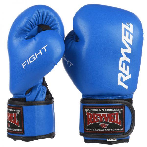 Перчатки боксерские Fight Reyvel красные/синие